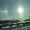 Halo over Chippewa River in Benson, Minnesota on January 29th 2014