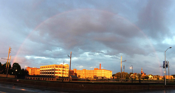 Dutton St rainbow Lowell 070115