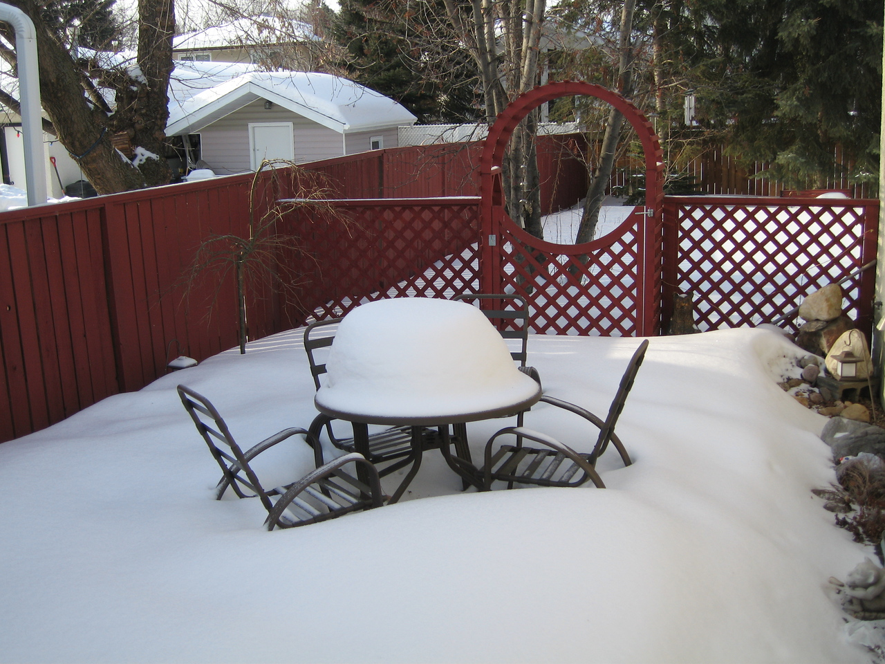Don't think we will be sitting out for our morning coffee in the near future.