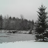 Saranac Lake High School grounds: The High School Pond