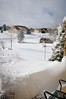 Looking out from the front of our house.  Most of that is untouched snow.