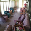 back porch after all the big litter removed