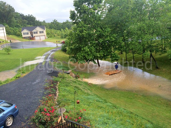 Flooding out front