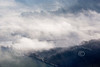 Aerial photo of the river Trent in mist.