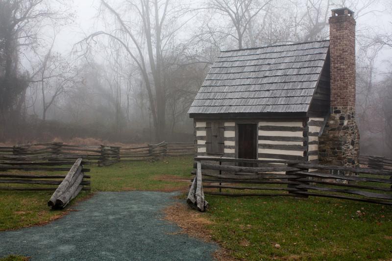 Benjamin Banneker Park in Catonsville on a foggy morning.