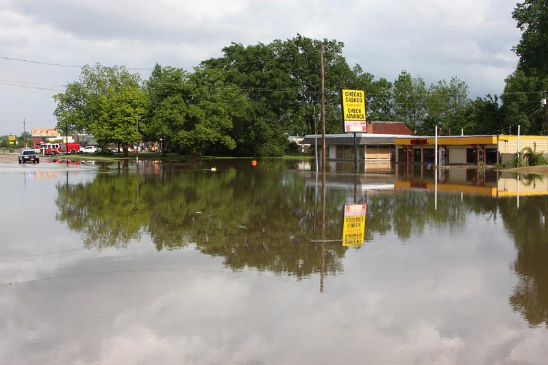 Flooding May 1, 2010, Goodman Road at the railroad tracks in Horn Lake.