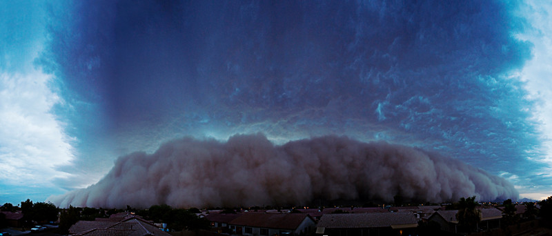 This cloud of dust stretches over about  mile high and at least 30 miles wide!
