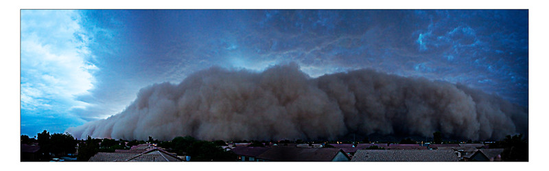 As it rolled in, we weren't sure if South Mountain would deflect it. As you can see it rolled right over South Mountain