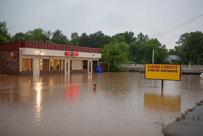 Parking lot of the Cash Depot on Goodman Road.