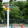 Children keep cool at the splash park at the Robert J. Crowley Swimming Complex in Fitchburg on Monday afternoon. SENTINEL & ENTERPRISE / Ashley Green