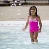 Adriana Valentin, 4, cools off at the Robert J. Crowley Swimming Complex in Fitchburg on Monday afternoon. SENTINEL & ENTERPRISE / Ashley Green