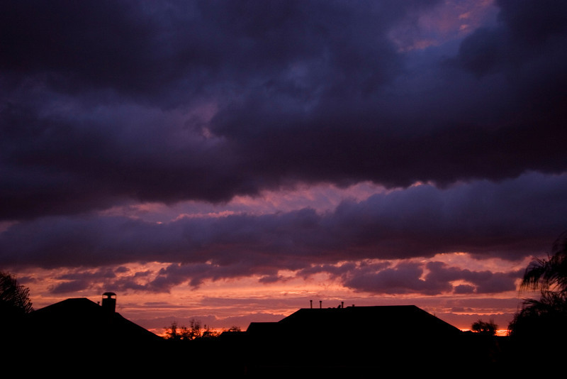 Waiting for the storm at the Vonderhaar's in Sugar Land, TX.  We had some beautiful skies from their backyard.