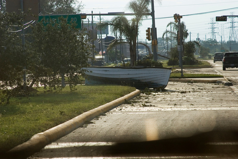 September 14:  Marina Bay Drive (Route 2094) in Kemah.  This road was under several feet of water during the  height of the storm.