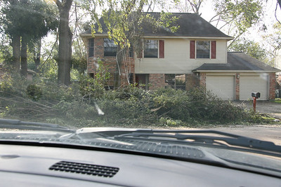 This picture was taken 1 block down from my in-laws house. It was before the real cutting and debris removal began.