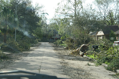 This picture was taken 1 block over from my in-laws house.  It was before the real cutting and debris removal began.