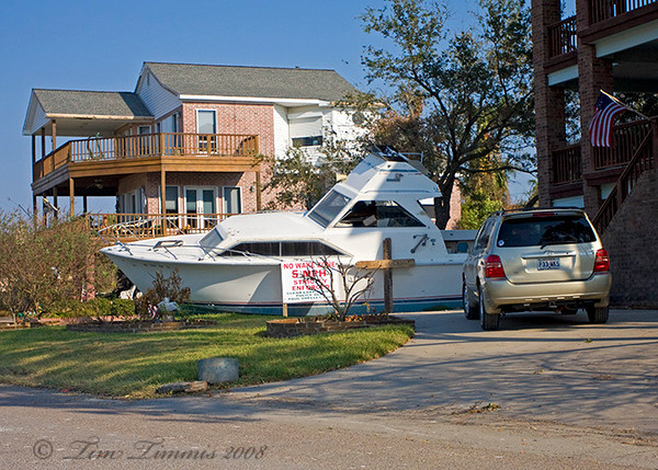 Boat in wrong place, Clear Lake Shores