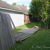 Fence down in our back yard