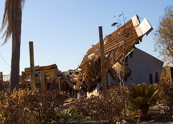 Damage in Seabrook on Toddville road
