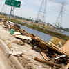 Debris along 146 north of Kemah Bridge