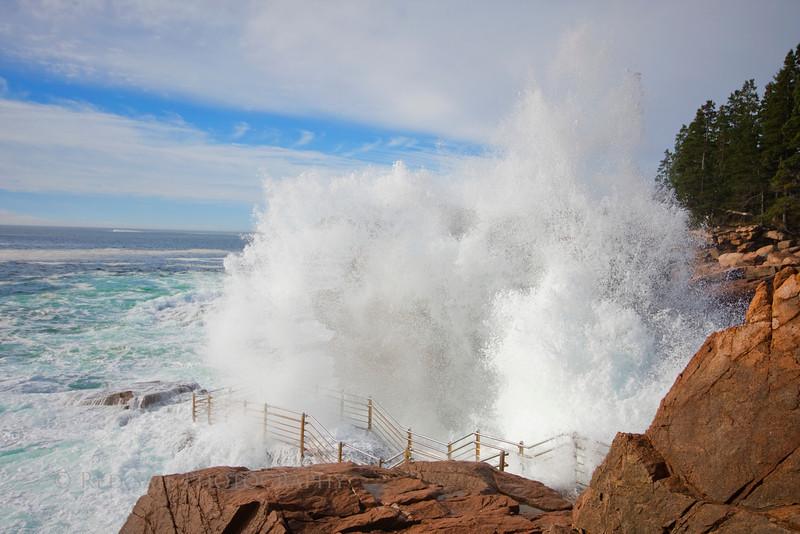 Thunder Hole... Acadia National Park, Maine.