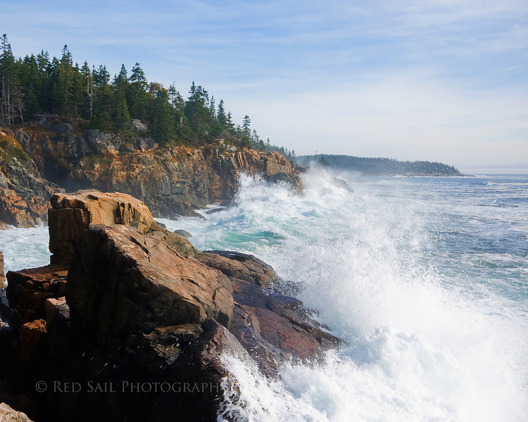 Crashing Waves.. Acadia National Park, Maine. Another shot from my secret spot.