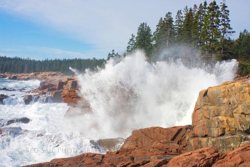 Water Explosion at Thunder Hole. Acadia National Park, Maine.