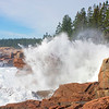 Water Explosion at Thunder Hole. Acadia National Park, Maine.
