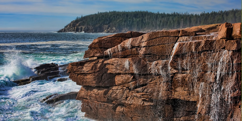 Thunder Hole Rock... Acadia National Park, Maine. Actual size 16x8.