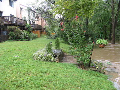 Another view of how perilously close the river is to these homes.  9-7-11