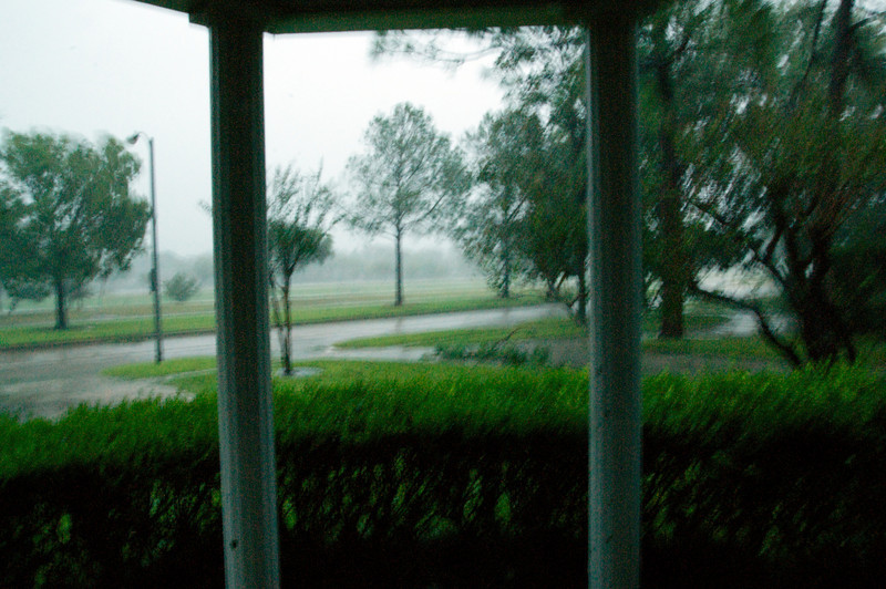 Our front porch around 6:30 AM on Sat 9/13