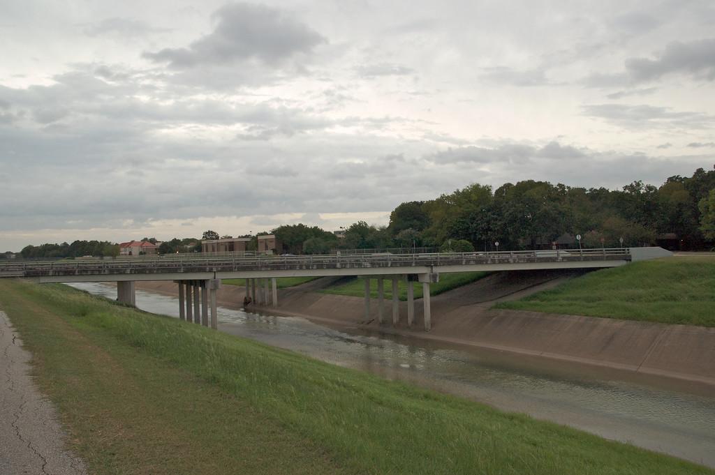 Brays Bayou bridge before the storm