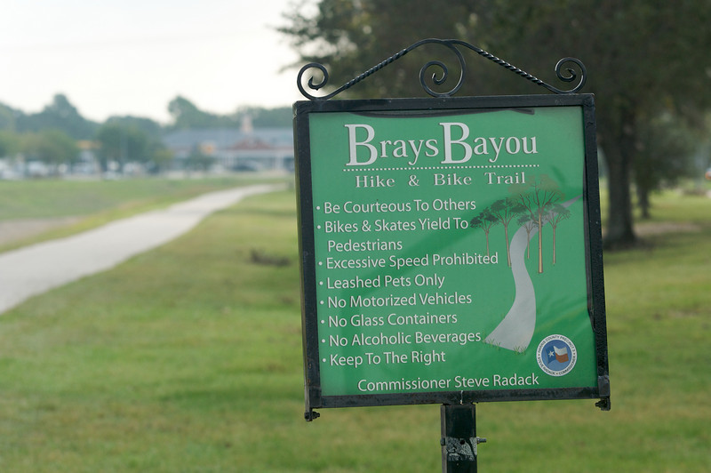 The bayou across the street from us . . .