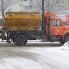 A Fitchburg DPW truck sands North St. in Fitchburg during the snow-storm, Saturday.<br /> SENTINEL & ENTERPRISE / BRETT CRAWFORD