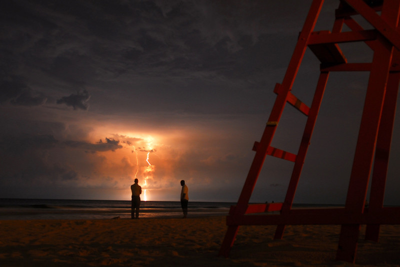 Photos of lightning taken at Jacksonville Beach, FL in 2007.
