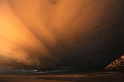 An amazing storm off the coast of Jacksonville Beach, Florida.