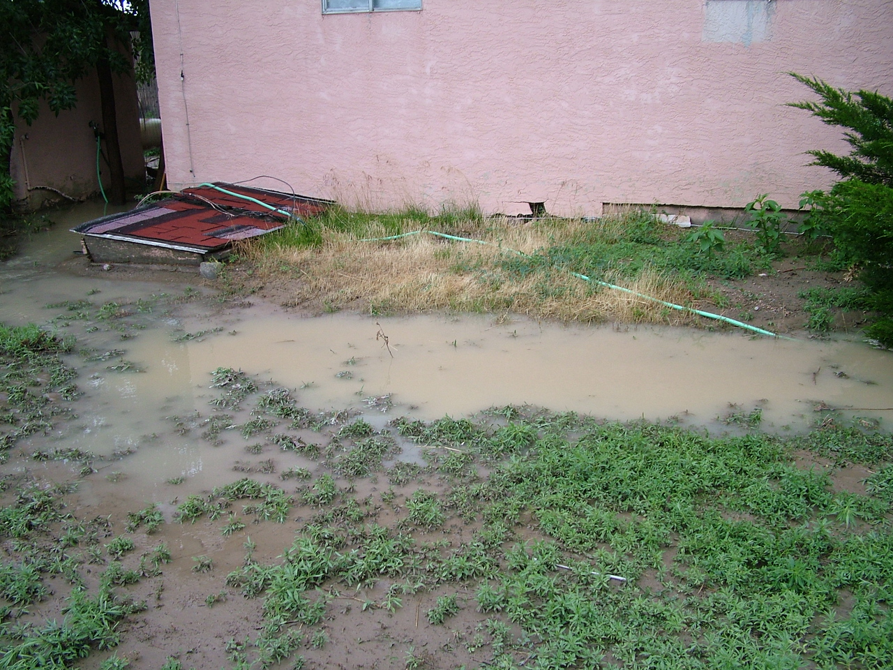 Side of my house...that water is at least a foot deep.