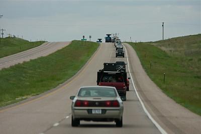The armada heading towards Wyoming.