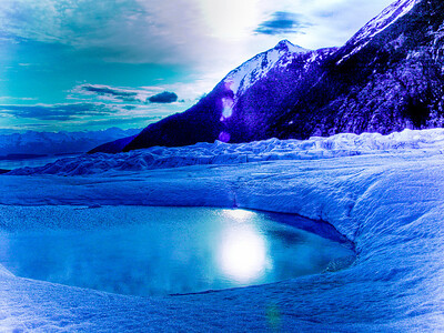 Alaskan Glacial Blues