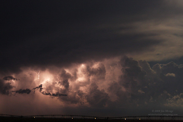 Aug. '08, awesome lightning across eastern Colorado during the High Plains storm season. Took these from about 50 miles east of Pueblo as a large high-precipitation (HP) supercell flashed with nearly constant bolts, cloud-to-ground and very impressive intracloud 'base-crawlers'.