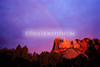 "A rare ""morning rainbow"" over Mt. Rushmore. No, this was not done in Photoshop, it really happened this way!"