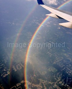 Rainbow from plane over Atlanta