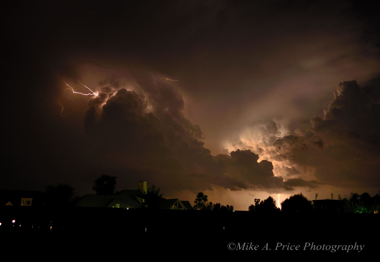 A large storm moved in to NW Arkansas on Sunday evening, August 12th and in to the early morning hours of August 13th.  There was a ton of electricity in the air and an almost constant strobe like effect of lighting.