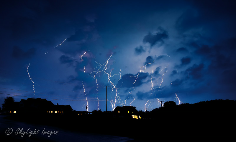 July 27th 2014 storm at Marsh Creek<br /> A composite of 7 images each at 20 seconds exposure