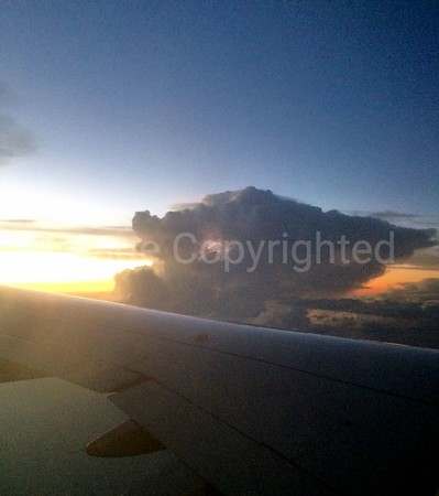 Lightning above the clouds