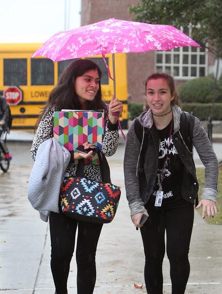 Lowell High students umbrella 100915