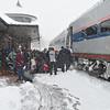 Kirkwood Amtrak Station with Amtrak 311 bound for Kansas City.