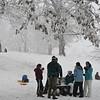 One of Kirkwood Parks favorite sled hills.