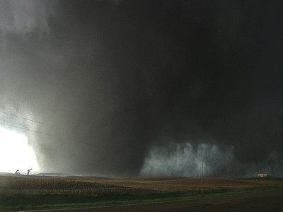 An EPIC view of this powerful storm just as it reached peak intensity directly north of Bowdle just before the tornado flattened several metal high tension power lines seen towards bottom right.   While this is only a video still frame, it conveys once again the power and fury of the storm!