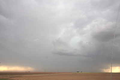 Large severe warned storm northwest of Lamesa, TX (5:45)