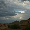 Storms were coming down from Lake Pleasant.  We got a little shower, and that was it.